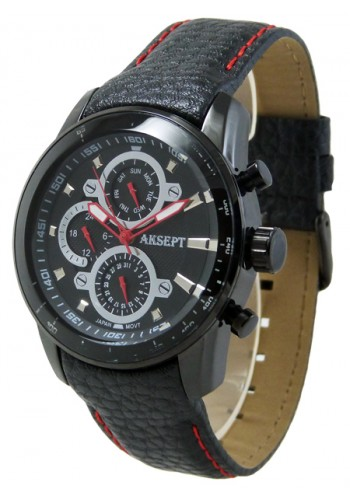 1053-4  Мъжки часовник AKSEPT с кожена каишка