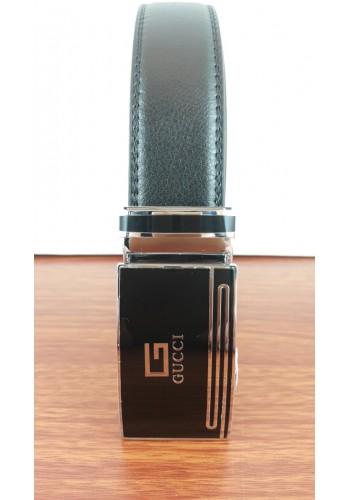 1030-11  Мъжки колан от естествена кожа в черно - автоматичен