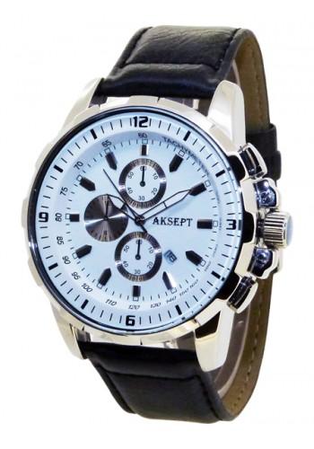 1101-1  Мъжки часовник  AKSEPT с кожена каишка