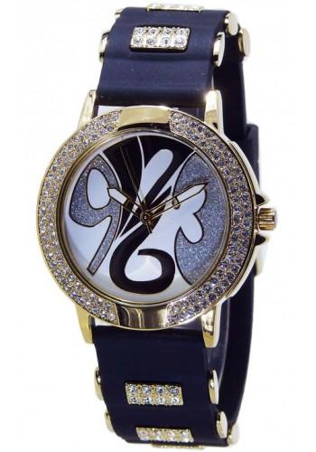 1109-1   Дамски часовник Aksept със силиконова каишка