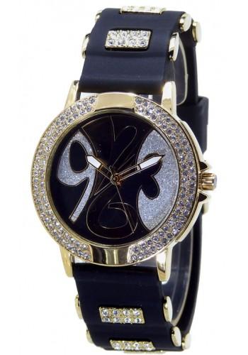 1109-2 Дамски часовник Aksept със силиконова каишка