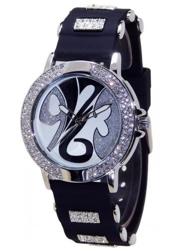 1109-3   Дамски часовник Aksept със силиконова каишка