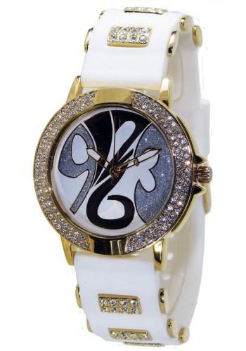 1109-4 Дамски часовник Aksept със силиконова каишка