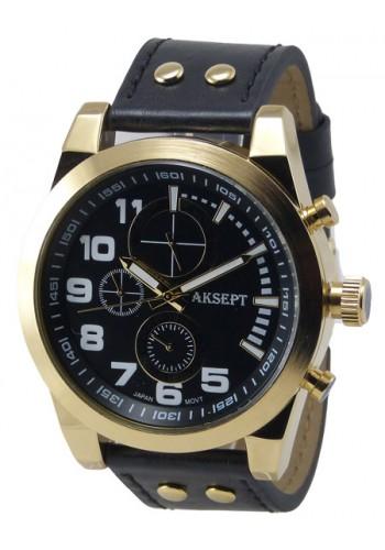 1140-2 Мъжки часовник AKSEPT с кожена каишка