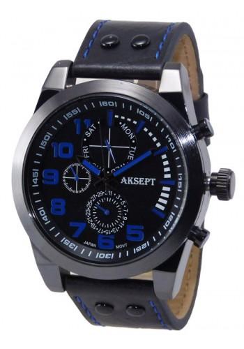 1140-3 Мъжки часовник AKSEPT с кожена каишка