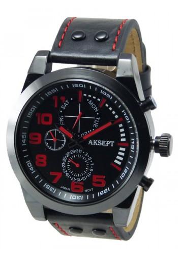 1140-4 Мъжки часовник AKSEPT с кожена каишка