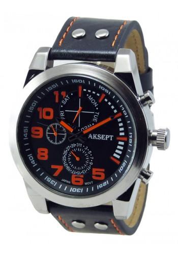 1140-5 Мъжки часовник AKSEPT с кожена каишка