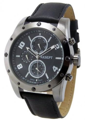 1147-1 Мъжки часовник AKSEPT с кожена каишка