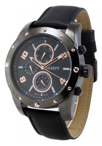 1147-2 Мъжки часовник AKSEPT с кожена каишка