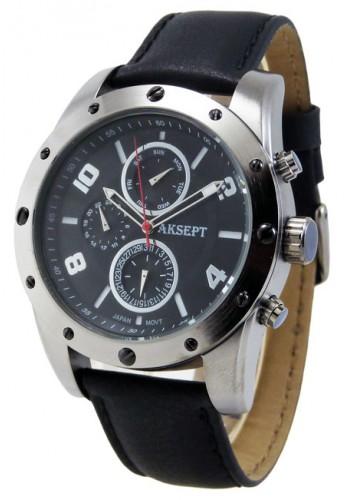 1147-5 Мъжки часовник AKSEPT с кожена каишка