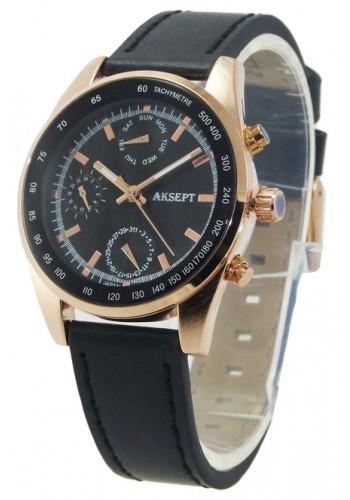 1148-3 Дамски часовник Aksept с кожена каишка