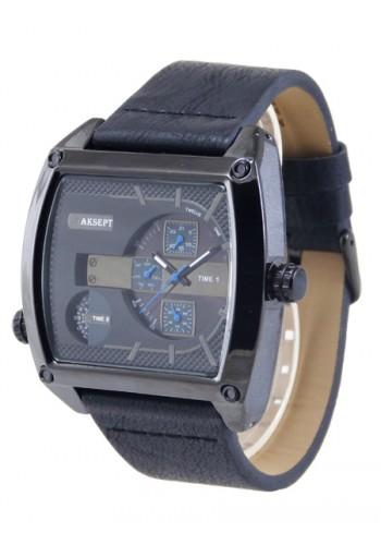 1165-1 Мъжки часовник AKSEPT с кожена каишка