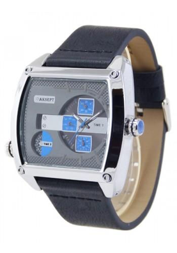 1165-3 Мъжки часовник AKSEPT с кожена каишка