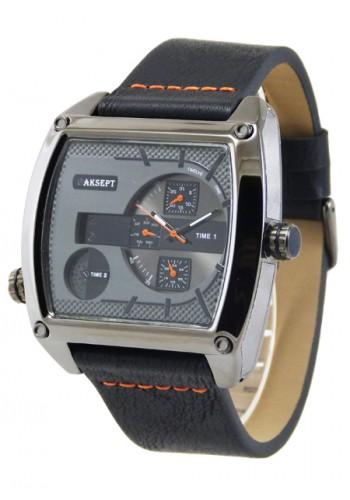 1165-4 Мъжки часовник AKSEPT с кожена каишка