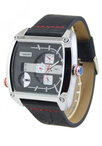 1165-5 Мъжки часовник AKSEPT с кожена каишка