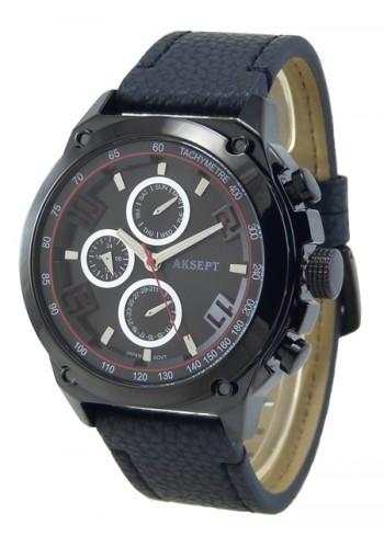1175-1 Мъжки часовник AKSEPT с кожена каишка