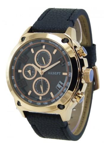 1175-2 Мъжки часовник AKSEPT с кожена каишка