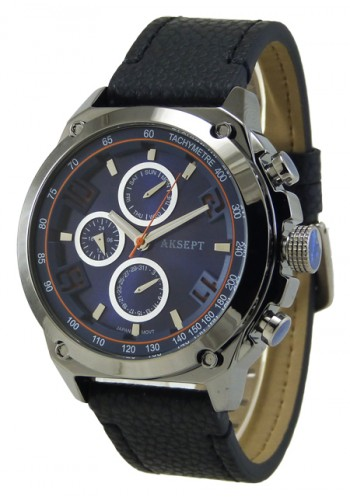 1175-3 Мъжки часовник AKSEPT с кожена каишка