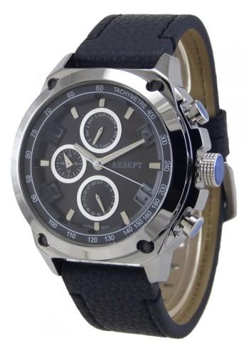 1175-4 Мъжки часовник AKSEPT с кожена каишка