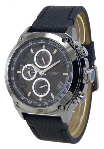 1175-5 Мъжки часовник AKSEPT с кожена каишка