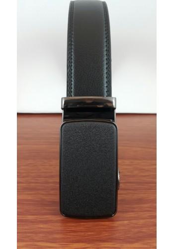1030-13  Мъжки колан от естествена кожа в черно - автоматичен