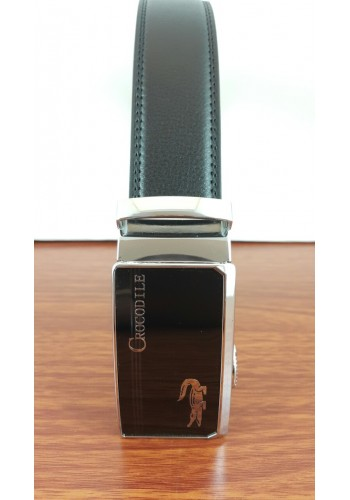 1030-15  Мъжки колан от естествена кожа в черно - автоматичен
