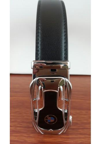 1030-16  Мъжки колан от естествена кожа в черно - автоматичен
