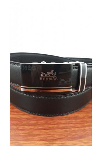 1030-20  Мъжки колан от естествена кожа в черно - автоматичен