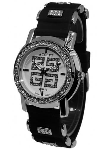 2003-1 Дамски часовник Aksept със силиконова каишка