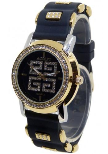 2003-2   Дамски часовник Aksept със силиконова каишка