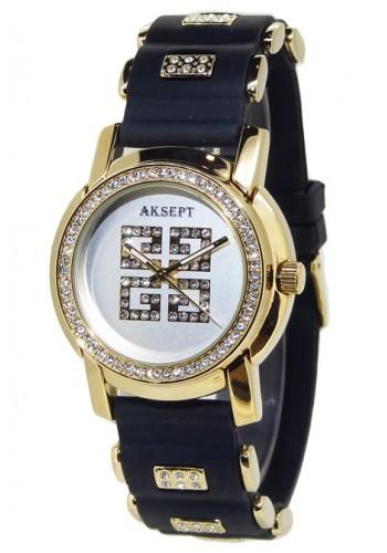 2003-5 Дамски часовник Aksept със силиконова каишка