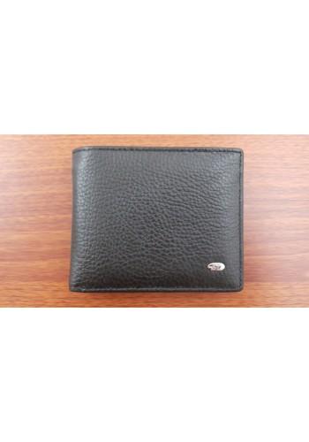 SM 13  Мъжки портфейл от естествена кожа в черно със  щипка