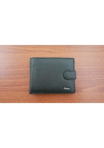 S 8941 Мъжки портфейл от естествена телешка кожа в черно с много отделения