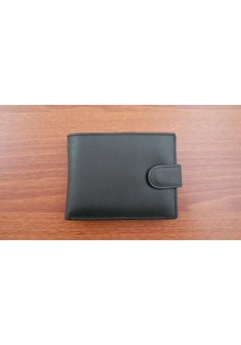 S 61642-876  Мъжки портфейл с изваждащ се органайзер за карти и документи от естествена кожа в черно