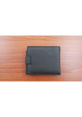 SM 2  Мъжки портфейл от естествена телешка кожа в черно с много отделения
