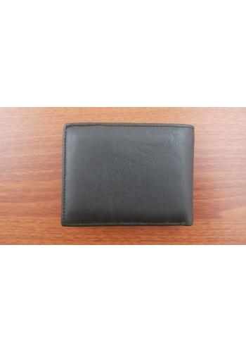 SM 8  Мъжки портфейл от естествена телешка кожа в черно с много отделения