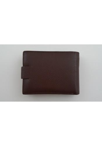 S 61635  Мъжки портфейл от естествена телешка кожа в кафяво с много отделения