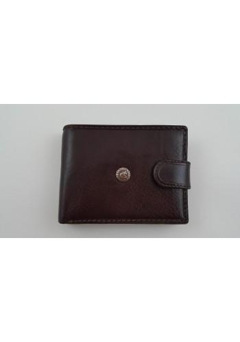 Мъжки портфейл COSSET от италианска естествена кожа в цвят бургунди с много отделения