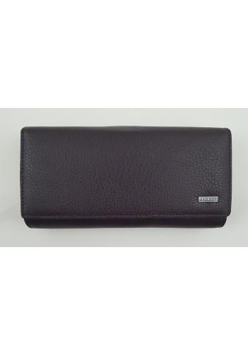 SLW 50 - Дамски портфейл от естествена кожа в лилаво с много отделения