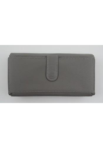 SLW 50 - Дамски портфейл от естествена кожа в сиво с много отделения