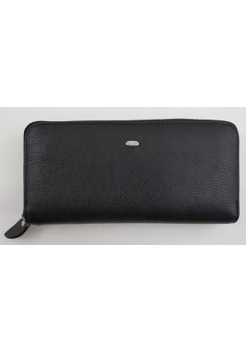 SW 38-1 - Дамски портфейл от естествена кожа в черно и затваряне с цип