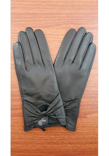 LUX 1672 - Дамски ръкавици от луксозна естествена кожа в черно