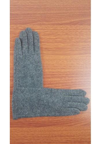 S 18050 Луксозни дамски ръкавици от естествен плетен кашмир в сиво