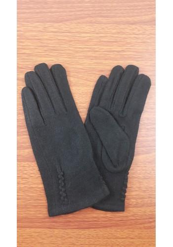 S 18050 Луксозни дамски ръкавици от естествен плетен кашмир в черно