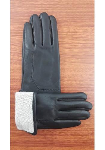 ЕЛЕН 109 - Мъжки ръкавици от луксозна ЕЛЕНСКА кожа в черно