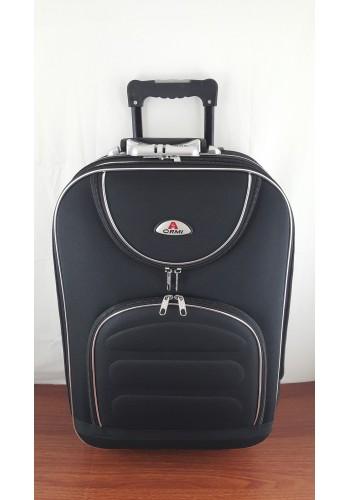 ST 104752 Текстилен куфар с външен механизъм олекотен - малък размер ''S'' в черно
