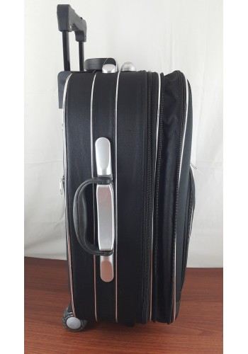 ST 104752 Текстилен куфар с външен механизъм олекотен - голям размер ''L'' в черно