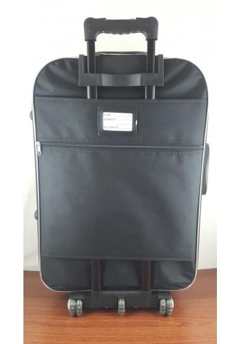 ST 104752 Текстилен куфар с външен механизъм олекотен - среден размер ''M'' в черно
