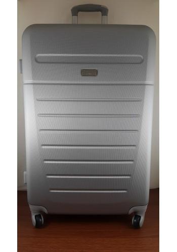 """S 203750 Куфар от PVC полимер - голям """"L"""" размер на 4 колела в Светло сиво 76/46/29см"""