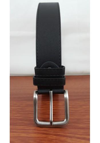 1055 - 01  Мъжки колан ГИГАНТ от висококачествена еко кожа в черно универсален